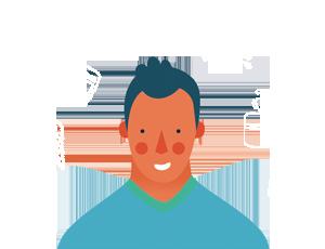 Illustration jeune homme